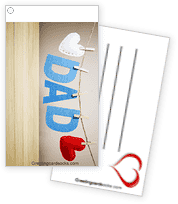 I HEART DAD Greeting Card