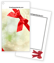 RED BOW Greeting Card