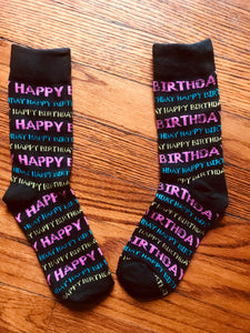 HAPPY BIRTHDAY, Ladies Crew Socks