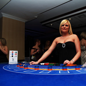Blackjack Table Blue