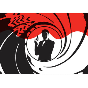 James Bond 007 Room Backdrop Display