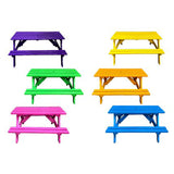Picnic Benches Assorted Colors