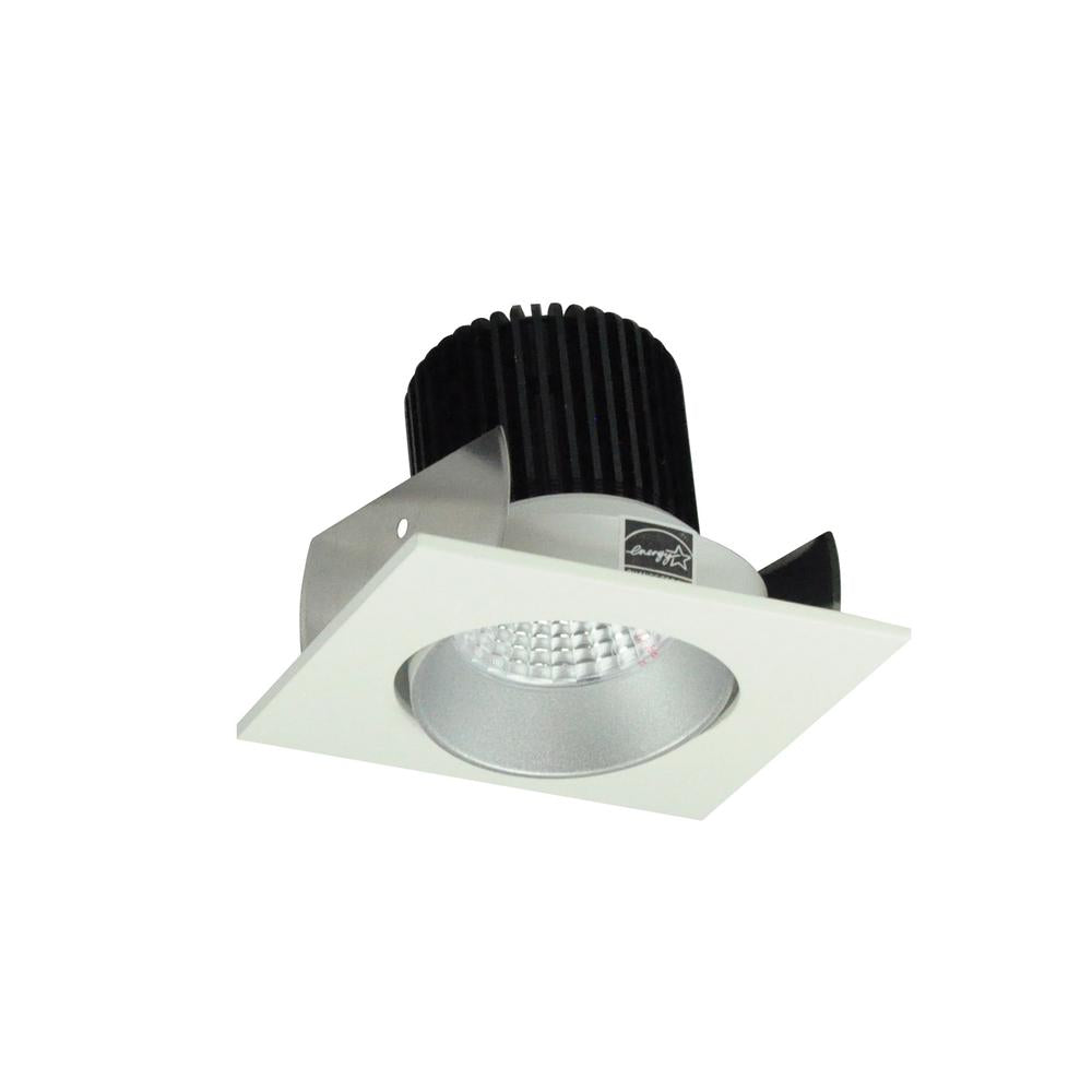 "Nora NIOB-2SC50XHW 2"" Iolite Square Cone Regress Adjustable Trim, 800lm, 5000K, Haze/White"