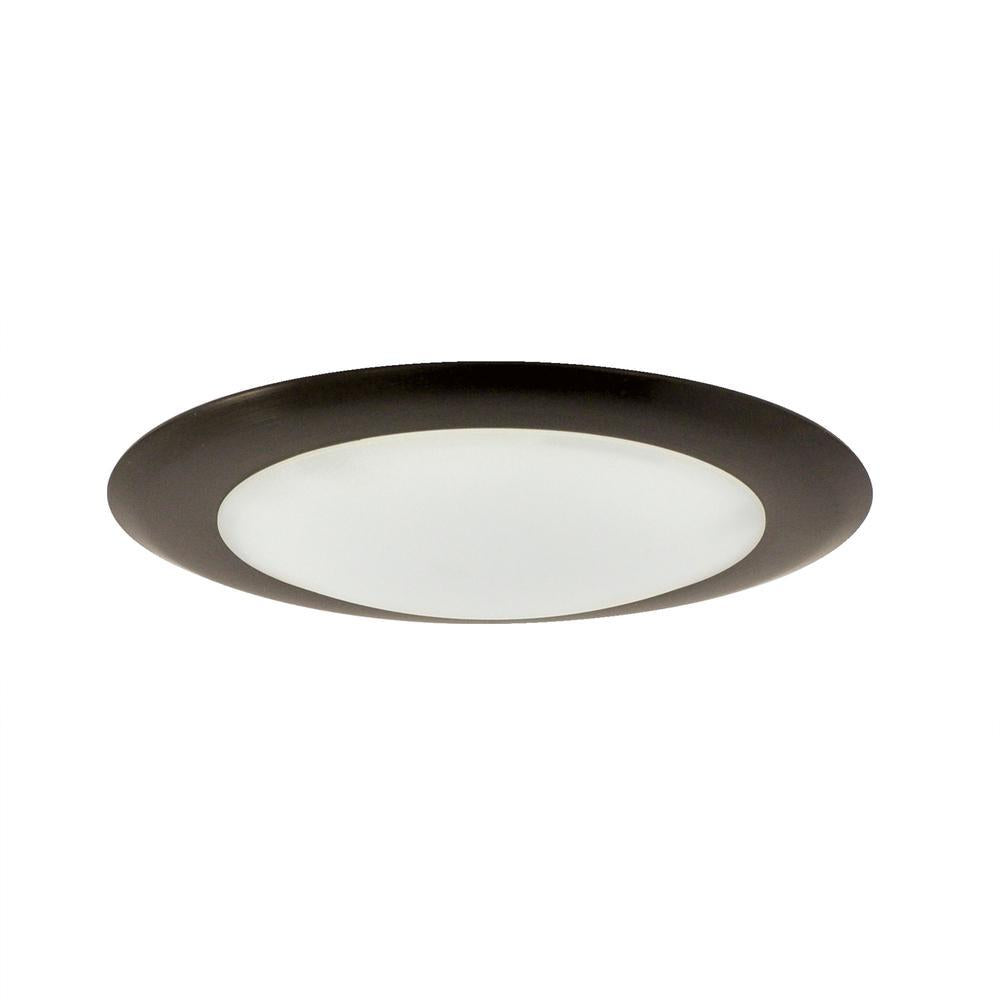 "Nora NLOPAC-R650927ABZ 6"" AC Opal Surface Mounted LED, 1050lm, 15W, 2700K, 90+CRI, 120V, Bronze"