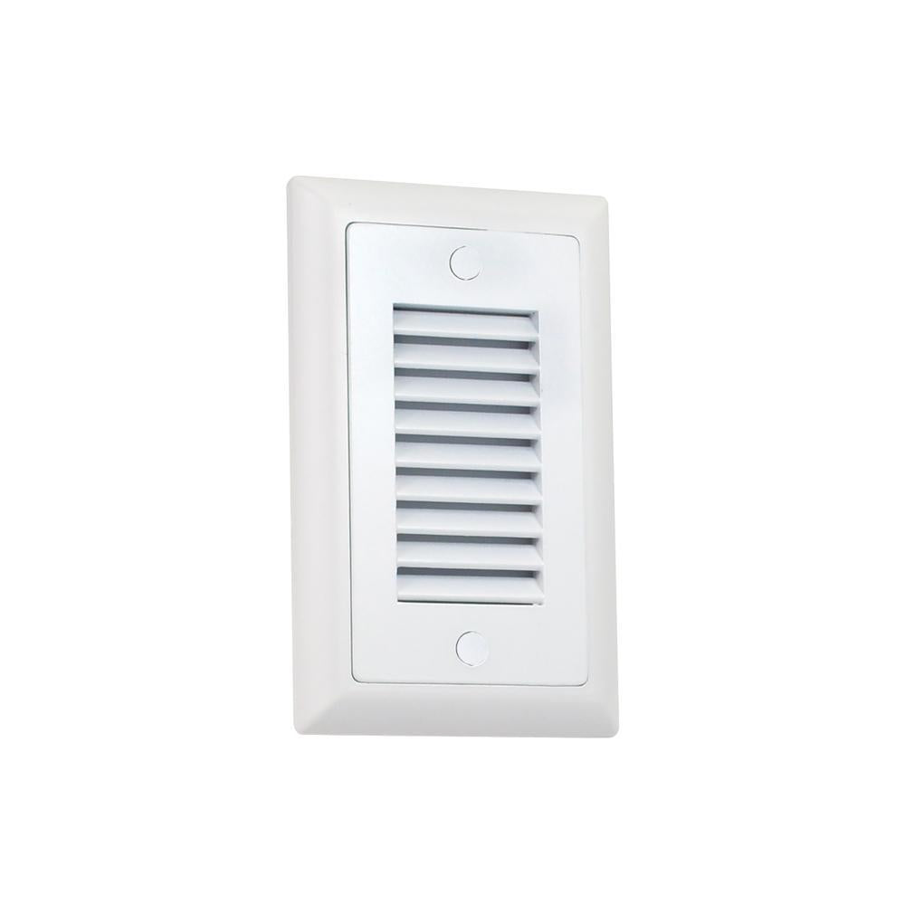 Nora NSW-674/30W Mia Die-Cast Mini LED Step Light w/ Vertical Louver Face, 74lm, 1.5W, 3000K, White, 120-277V No