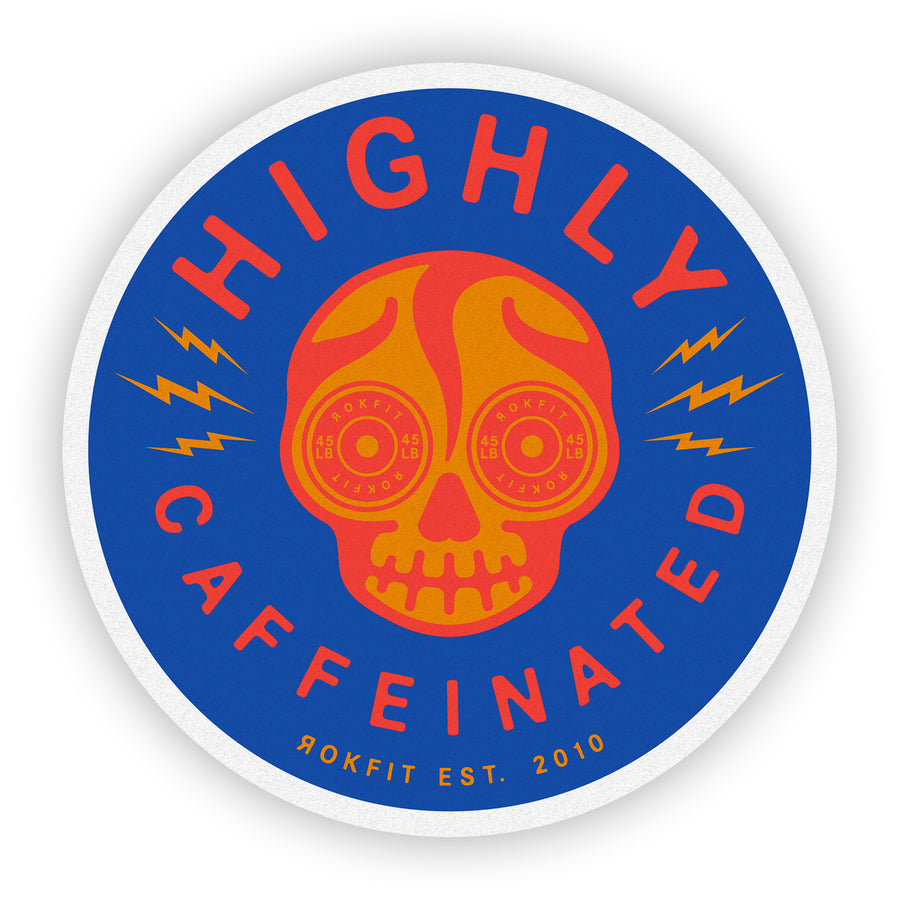 Highly Caffeinated - Sticker
