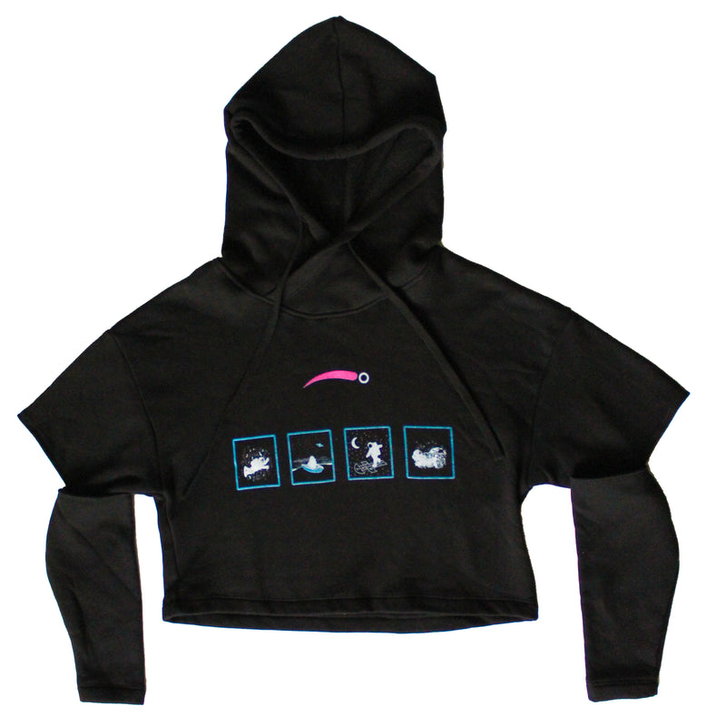 Simply AstroGirl Cropped Hoodie