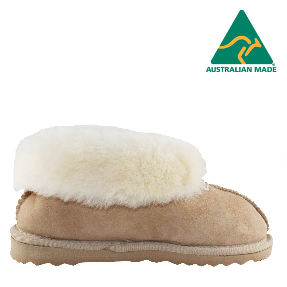BONDI UGG Wool Collar Slipper - Sand