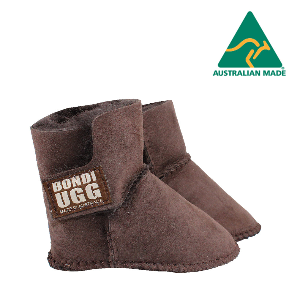 BONDI UGG Velcrose Kids Booties - Chocolate