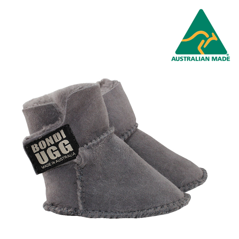 BONDI UGG Velcrose Kids Booties - Grey