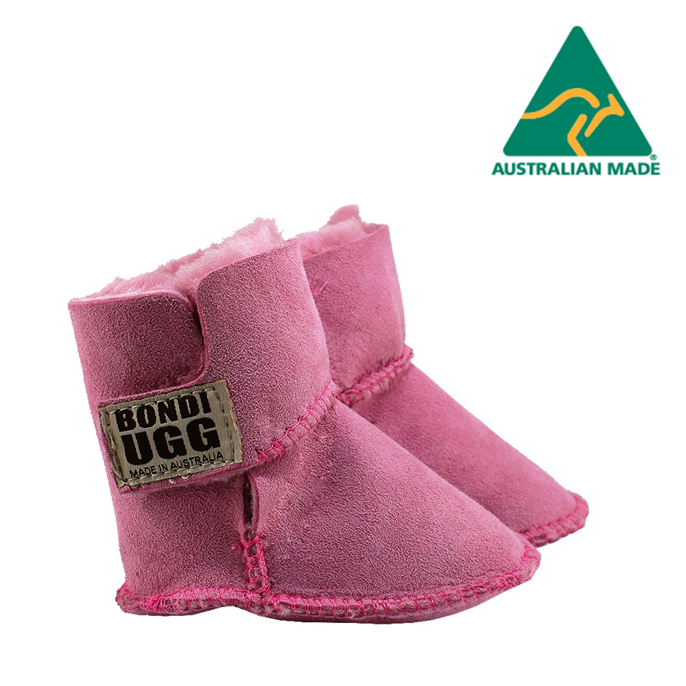 BONDI UGG Velcrose Kids Booties - Hot Pink