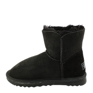 BONDI UGG by Waratah ® Crystal Button Short Boot - Black