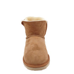 BONDI UGG by Waratah ® Crystal Button Short Boot - Chestnut