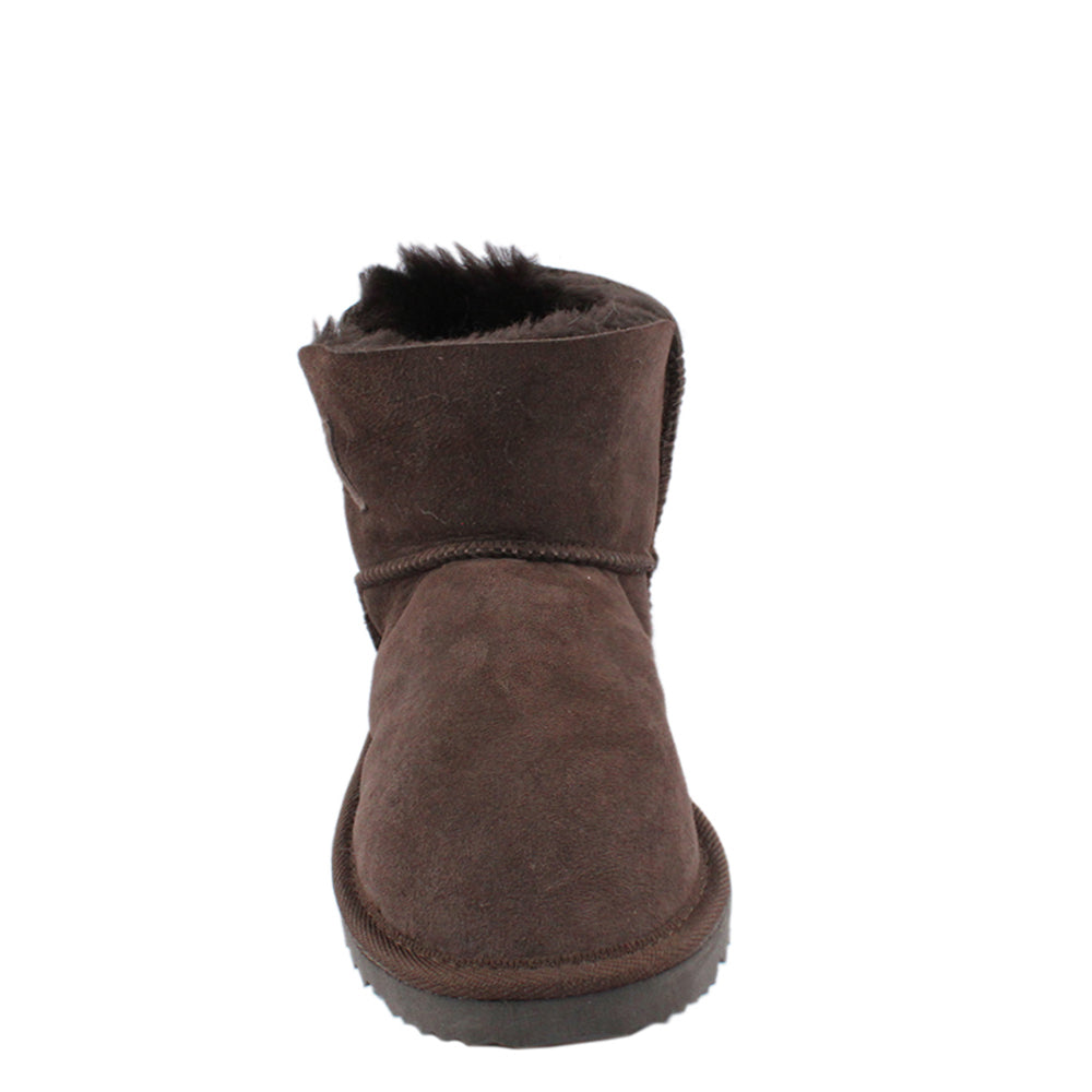 BONDI UGG Crystal Button Short Boot - Chocolate