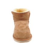 BONDI UGG by Waratah ® Button Short Boot - Chestnut
