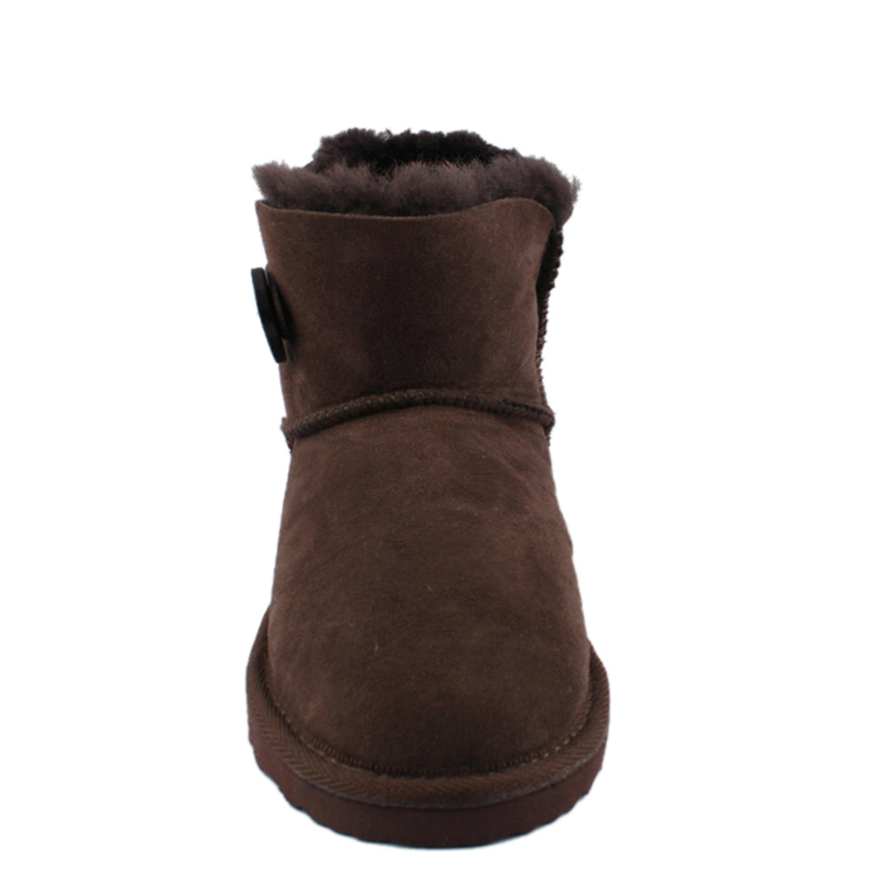 BONDI UGG by Waratah ® Button Short Boot - Chocolate