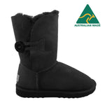BONDI UGG Button 3/4 Boot - Black