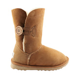 BONDI UGG by Waratah ® 3/4 Button Boot - Chestnut