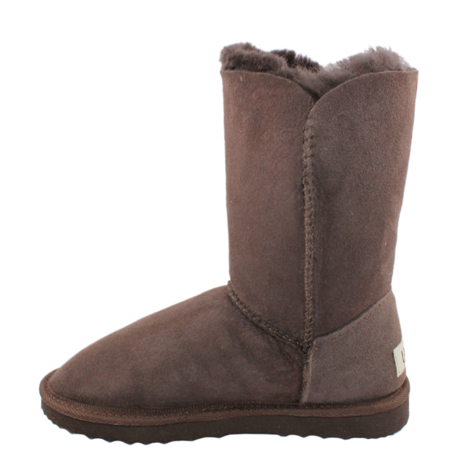 BONDI UGG by Waratah ® Button 3/4 Boot - Chocolate