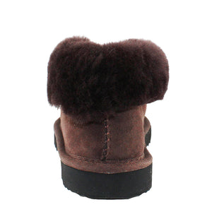 BONDI UGG Wool Collar Slipper - Chocolate