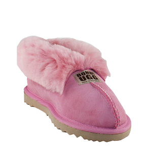 BONDI UGG Wool Collar Slipper - Pink