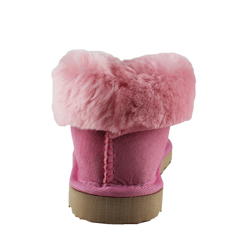BONDI UGG by Waratah ® Wool Collar Sheepskin Slipper - Pink