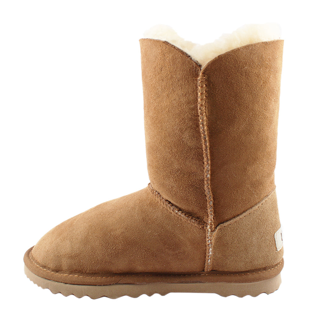 BONDI UGG by Waratah ® Crystal Button 3/4 Boot - Chestnut