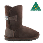 BONDI UGG Crystal Button 3/4 Boot - Chocolate