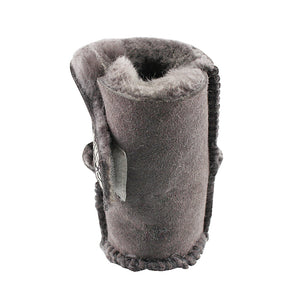 BONDI UGG by Waratah ® KIDS Velcrose Sheepskin Baby Booties - Grey