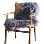 Mongolian Sheepskin Rug - Grey