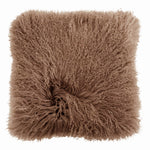 Mongolian Sheepskin Cushion - Camel