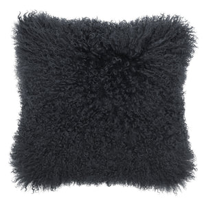 Mongolian Sheepskin Cushion - Charcoal