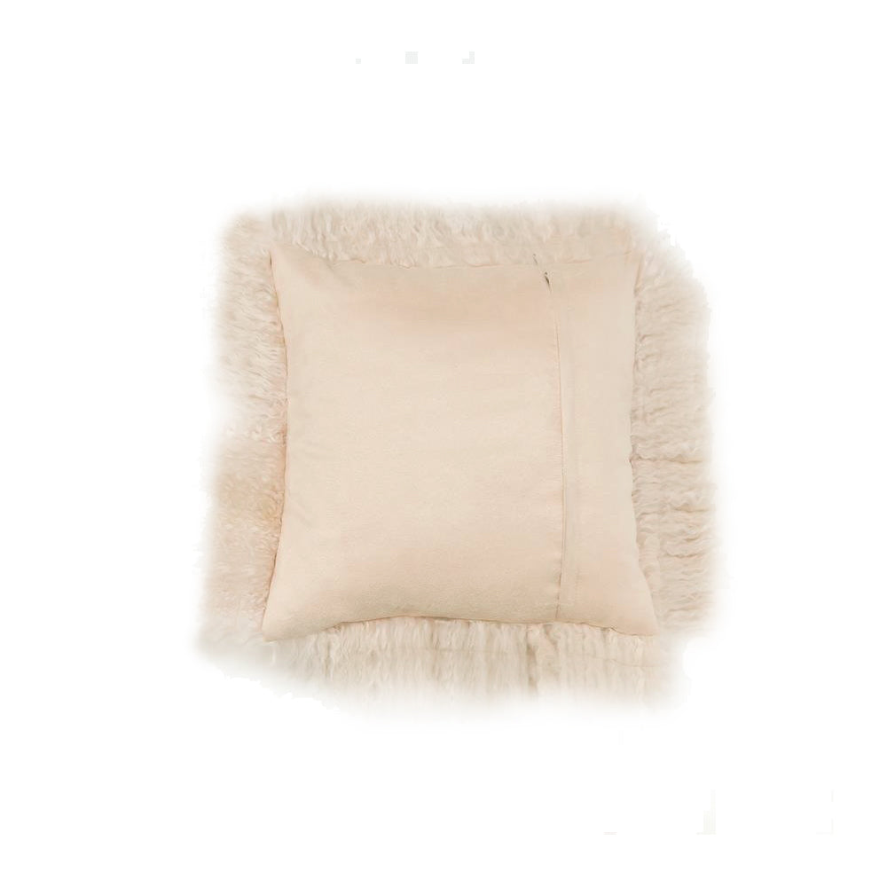 Mongolian Sheepskin Cushion - Fawn