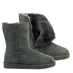 WARATAH UGG® Unisex Water Resistant Mid Zip Up Boot - Grey