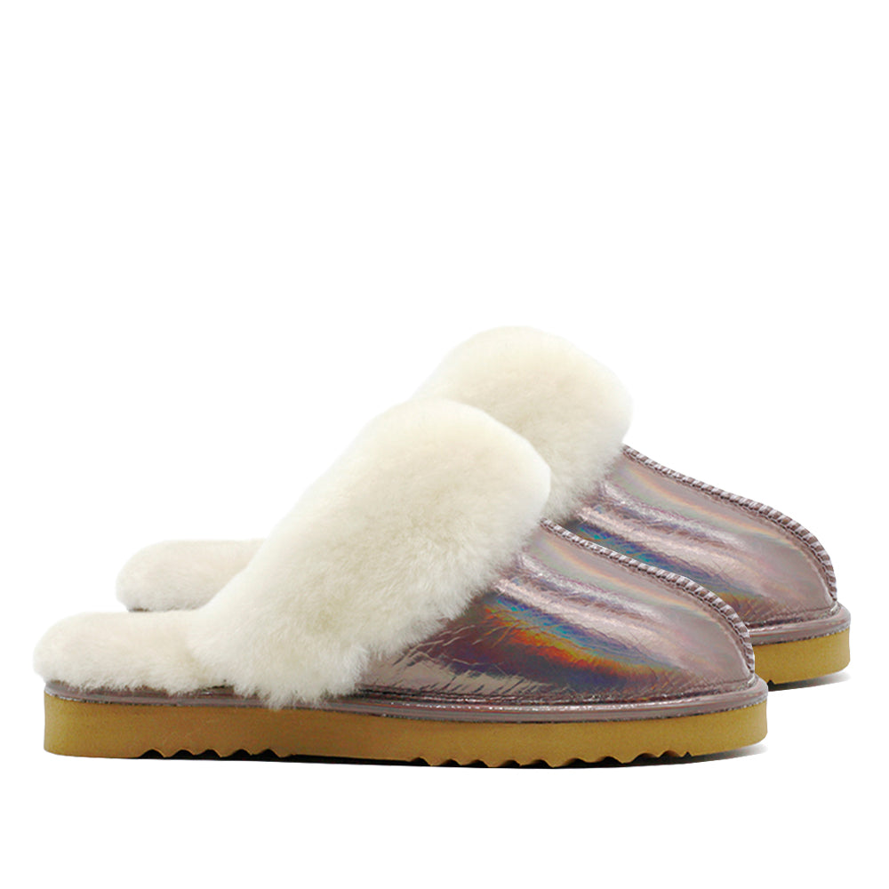 WARATAH UGG® Holographic Rainbow Ladies Scuff - Periwinkle
