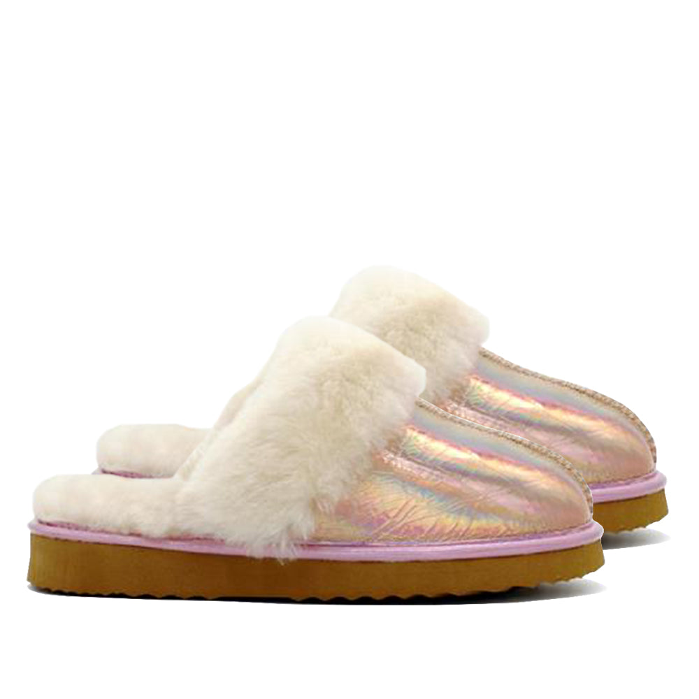 WARATAH UGG® Holographic Ladies Scuff - Rose Gold