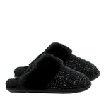 WARATAH UGG® Sheepskin Knit Scuff - Black