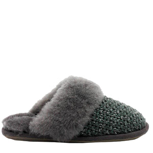 WARATAH UGG® Sheepskin Knit Scuff - Grey