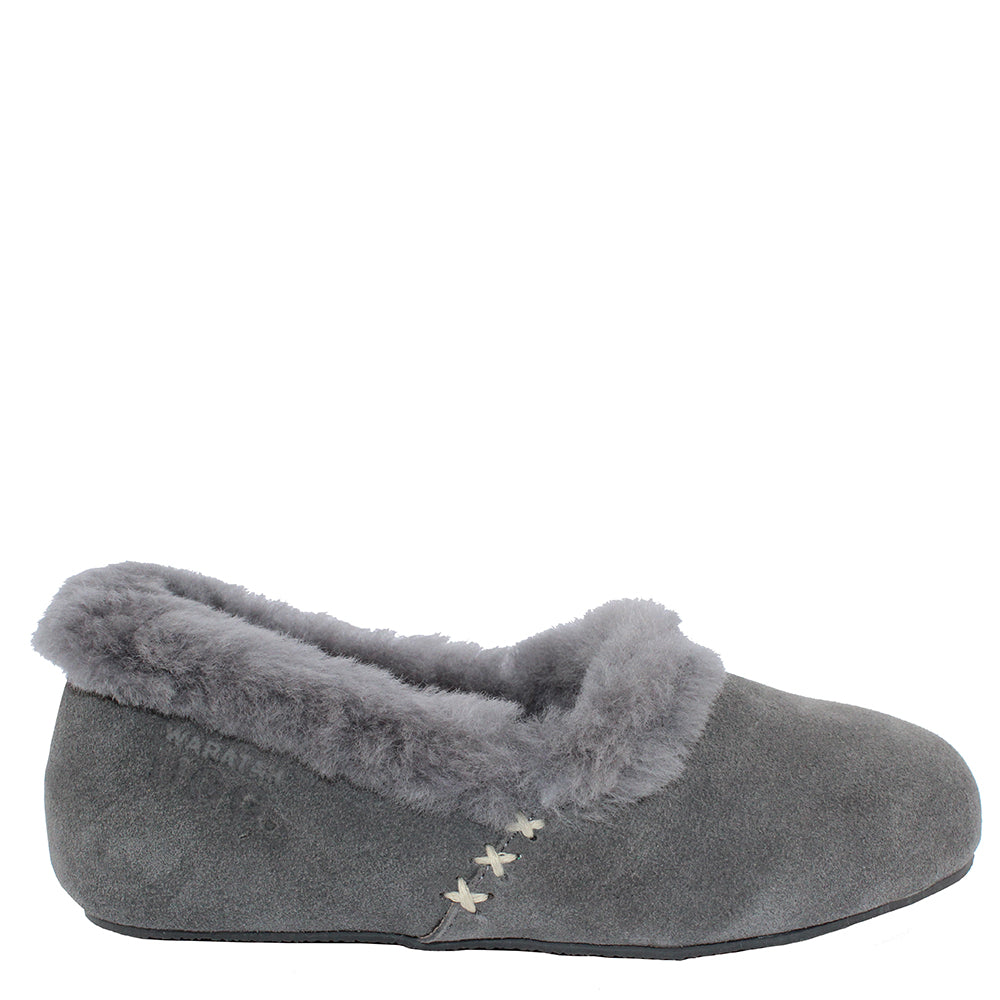 5dff833d52f WARATAH UGG® Woman's Sheepskin Cross Stitch Slippers - Grey