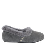 WARATAH UGG® Woman's Sheepskin Cross Stitch Slippers - Grey