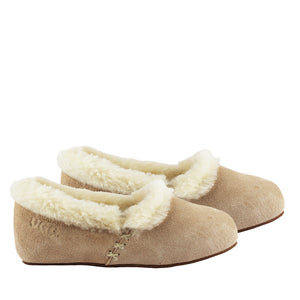 WARATAH UGG® Woman's Sheepskin Cross Stitch Slippers - Sand
