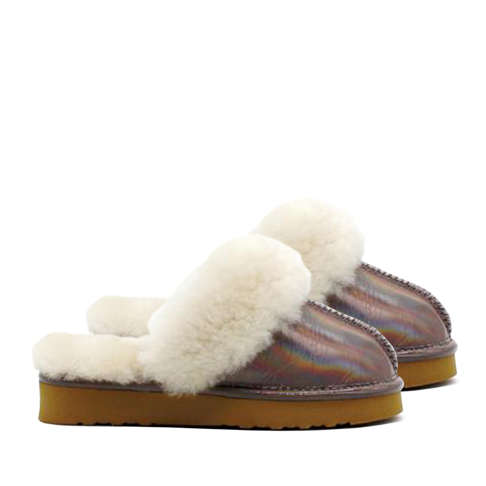 Waratah UGG® Holographic Rainbow Kids Scuff - Periwinkle