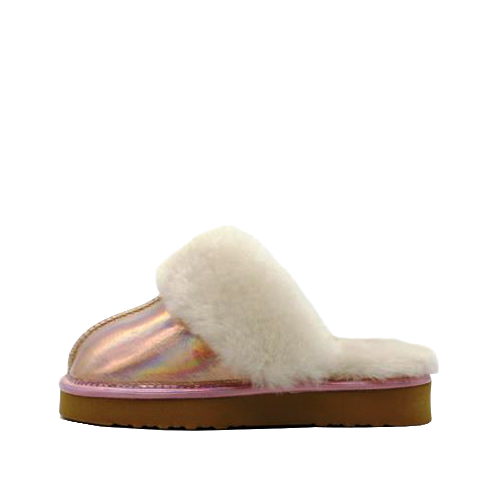 Waratah UGG® Holographic Kids Scuff - Rose Gold