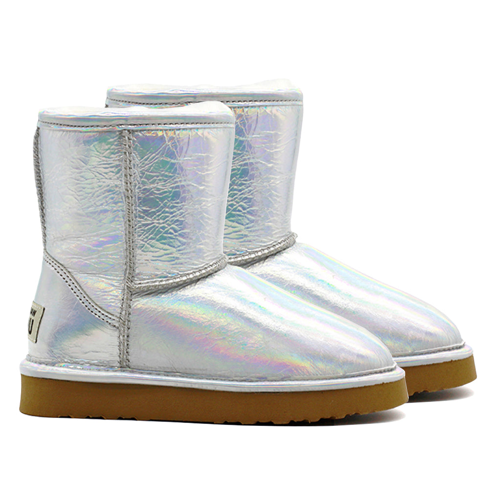Waratah UGG® Holographic Kids Zip UGG Boots - Star Dust