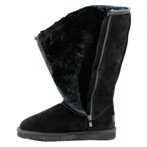 WARATAH UGG® Water Resistant Tall Zip Up Boot - Black