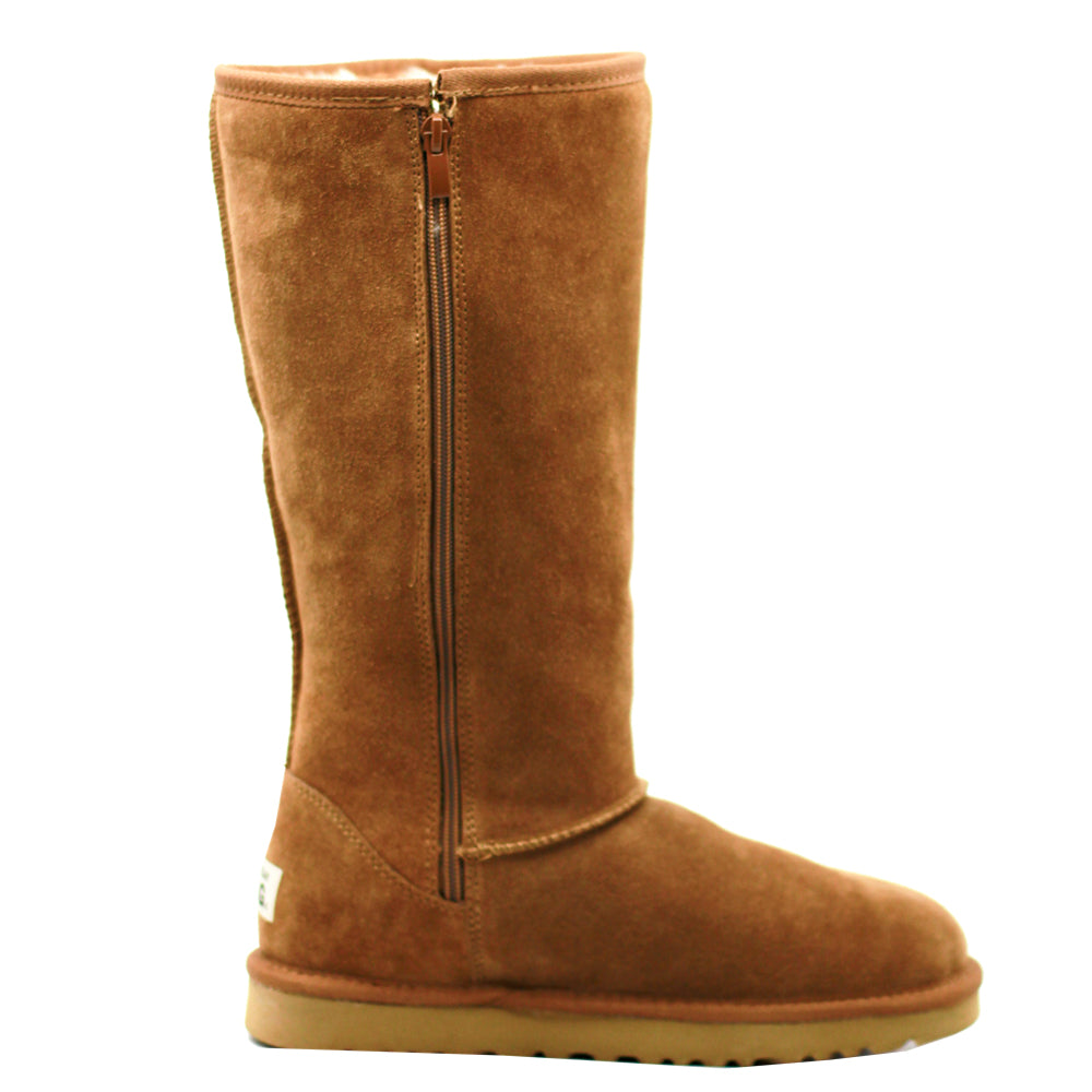 WARATAH UGG® Water Resistant Tall Zip Up Boot - Chestnut