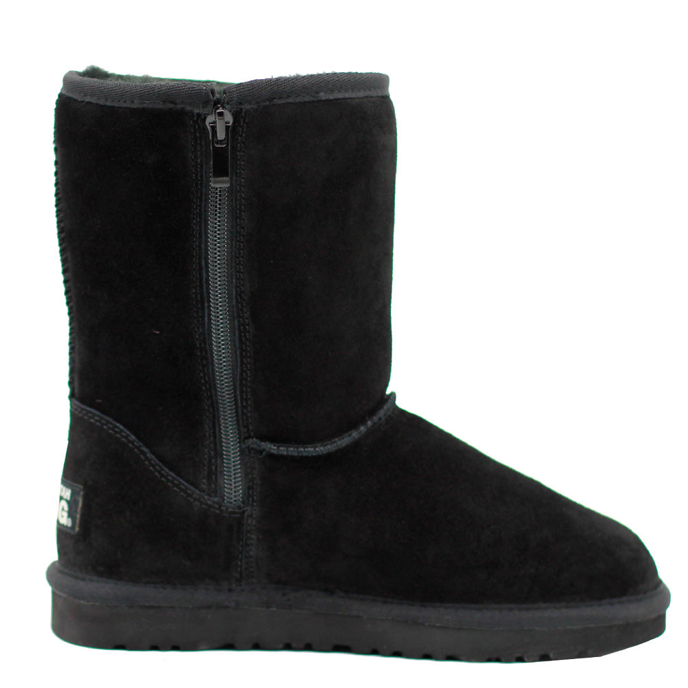 WARATAH UGG® Unisex Water Resistant Mid Zip Up Boot - Black