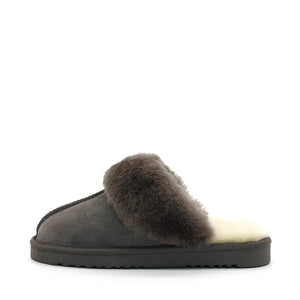 WARATAH UGG® Wool Collar Scuff - Grey