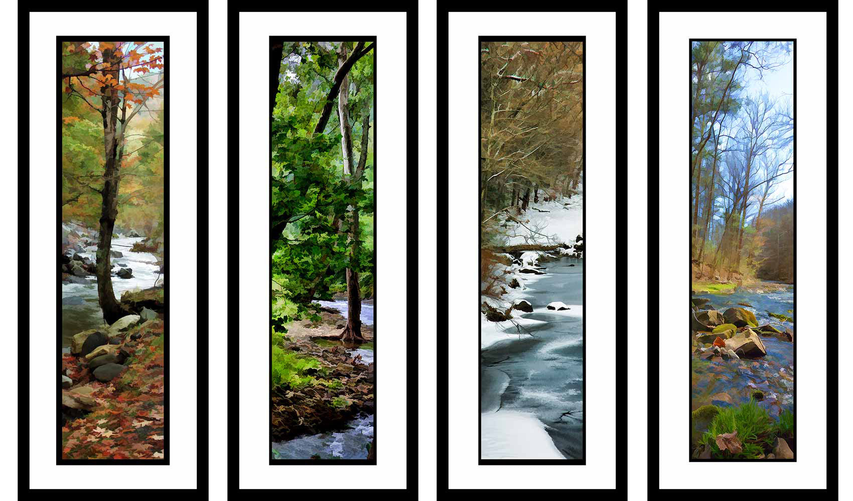 Seasonal Streams grouping by Alison Thomas of Serenity Scenes Photography and Digital Art.