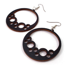 Load image into Gallery viewer, Bubble Hoop Sustainable Wooden Earrings - Available in 4 wood types